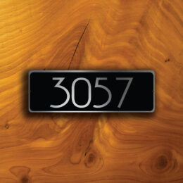 CUSTOM DOOR NUMBER Sign