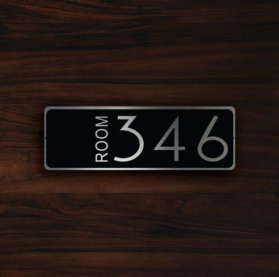 CUSTOM HOTEL ROOM Door Number Sign