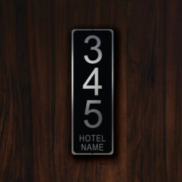 CUSTOM HOTEL ROOM Number Sign