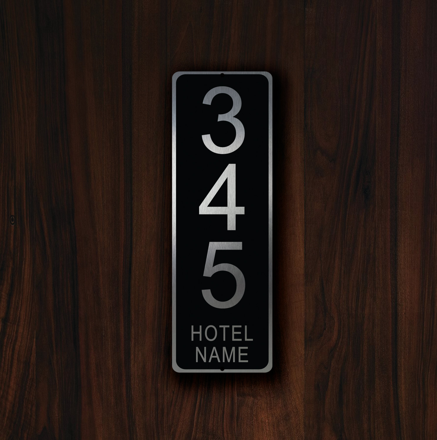 & CUSTOM HOTEL ROOM Number Sign
