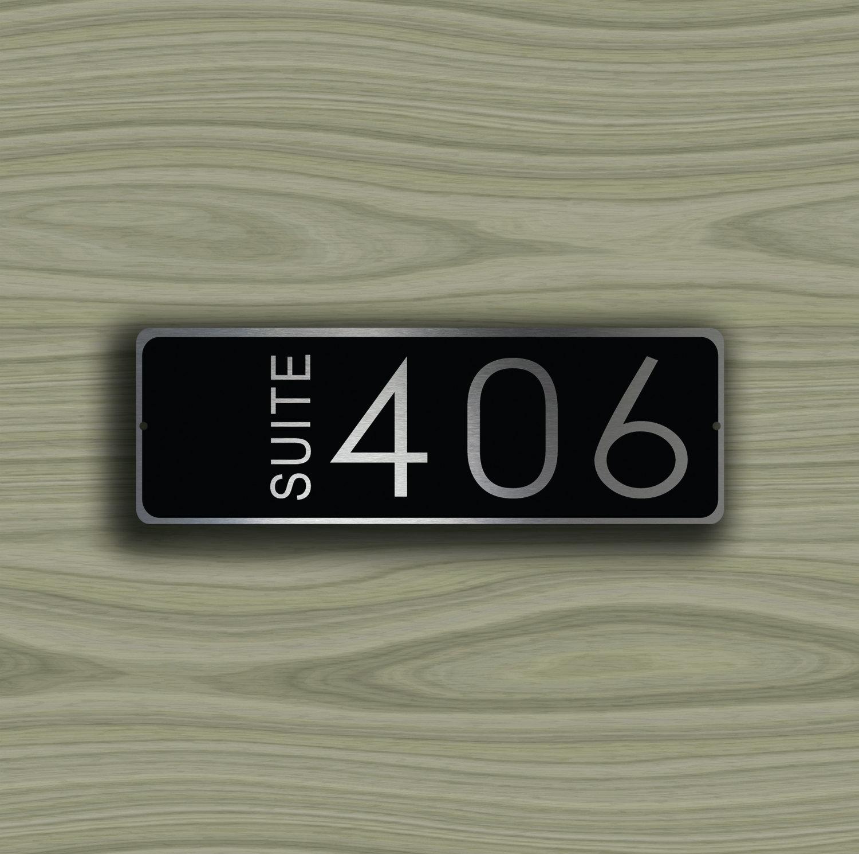 & CUSTOM HOTEL SUITE Door Number Sign