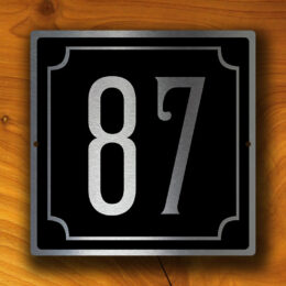 CUSTOM HOUSE NUMBERS Sign