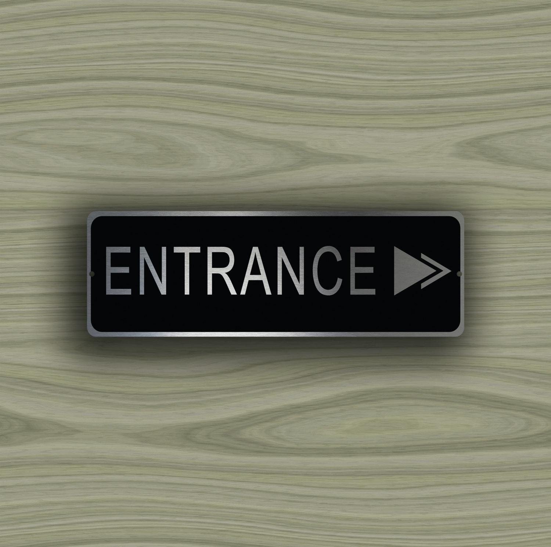 Entrance Directional Sign
