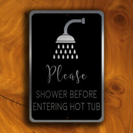 HOT TUB SIGNS