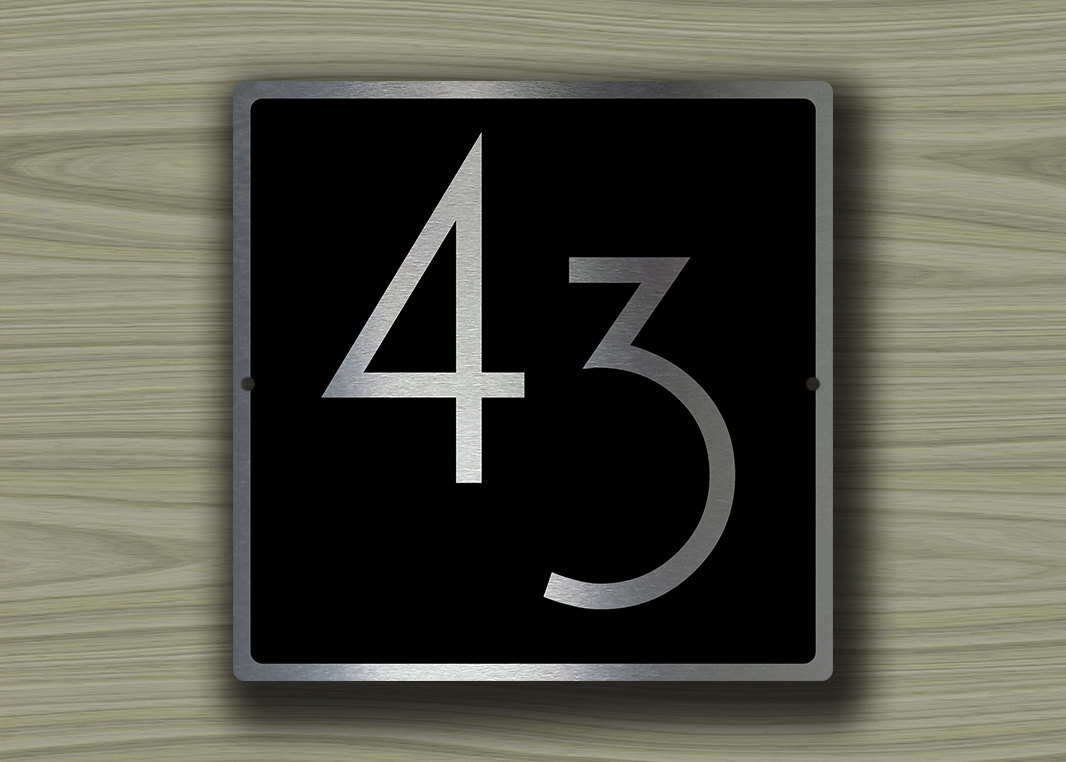House numbers modern for Modern house numbers