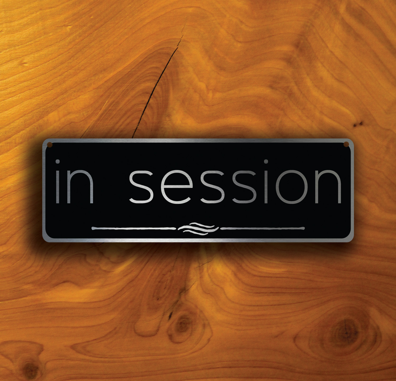 In session door sign for Door 3 facebook