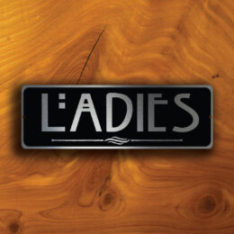 LADIES RESTROOM SIGN