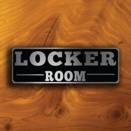 LOCKER ROOM DOOR Sign