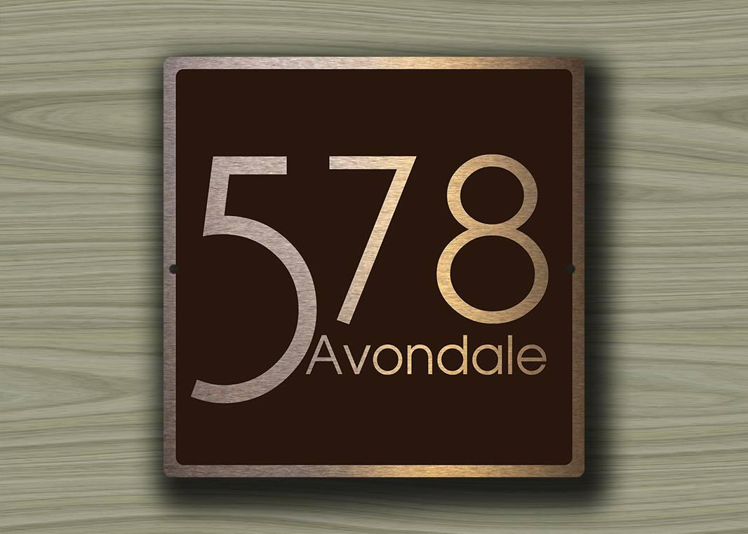 Modern house numbers 3 decamoda for Modern house numbers