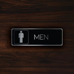 MODERN MENS RESTROOM Door Sign