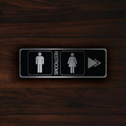MODERN RESTROOM DOOR Sign