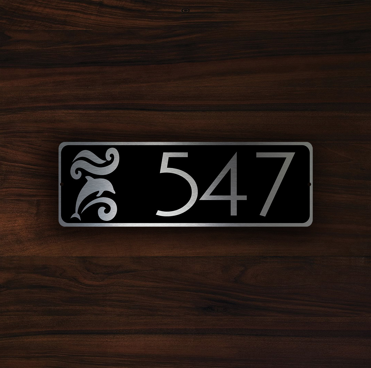 Modern House Number Sign 3 Decamoda