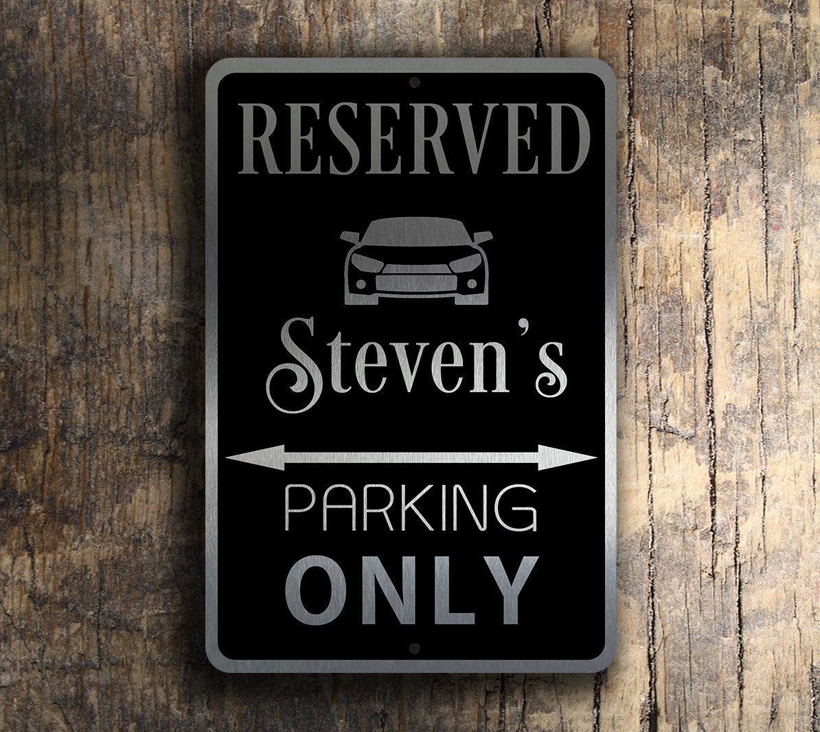 parking reserved sign personalized signs novelty