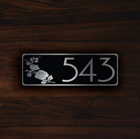 Personalized House Number Sign