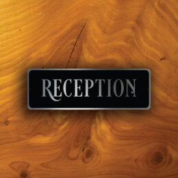 RECEPTION DOOR SIGN