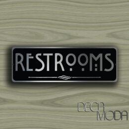 RESTROOMS DOOR SIGN