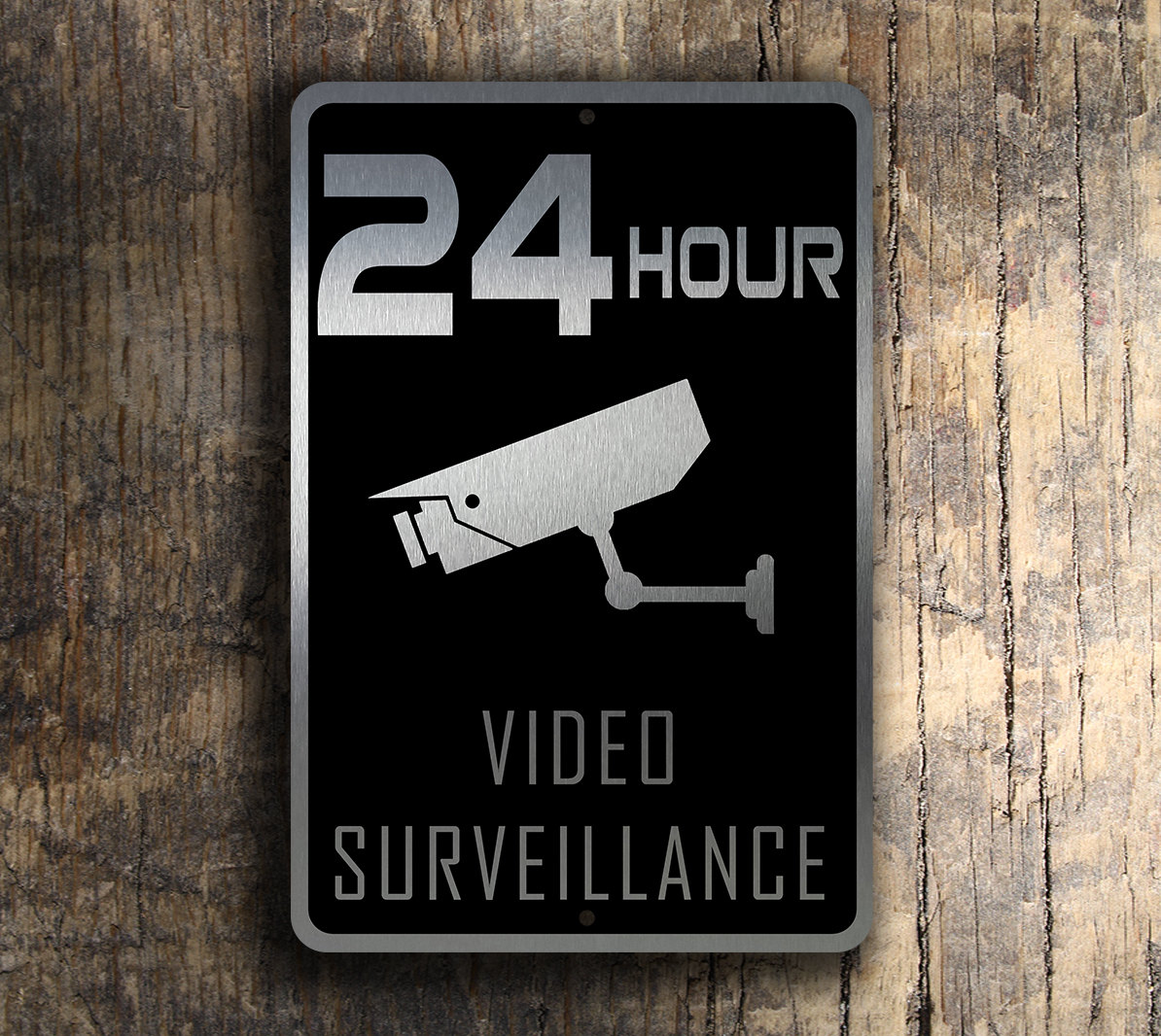 video surveillance sign. Black Bedroom Furniture Sets. Home Design Ideas