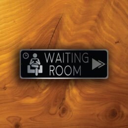 WAITING ROOM Pointer SIGN