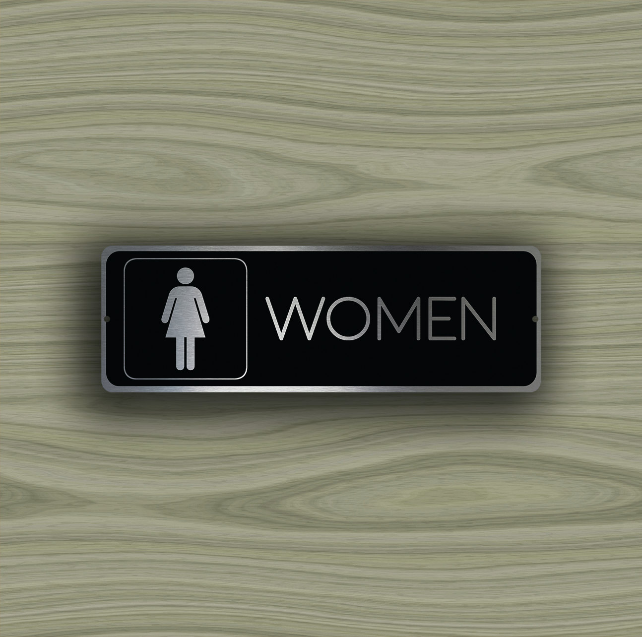 Womens Restroom Door Sign & WOMENS RESTROOM DOOR Sign