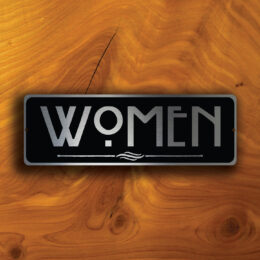 WOMENS RESTROOM SIGN