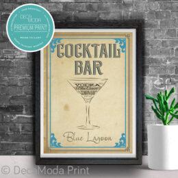 Blue Lagoon Bar Sign Print
