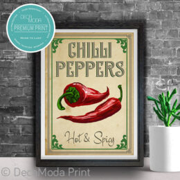 Chilli Kitchen Art Print