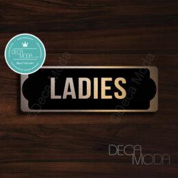 Ladies-Restroom-Door-Sign-Copper-Finish
