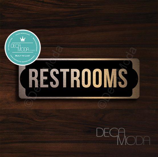 Restrooms--Room-Door-Sign-Copper-Finish