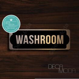 Washroom-Sign-Brushed-Silver-Finish