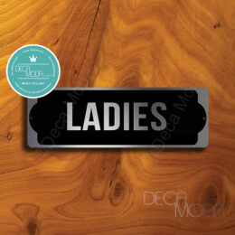 Ladies door sign